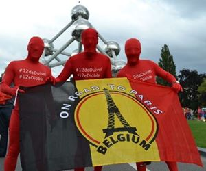 "Image de Drapeau Belge ""On Road to Paris"""