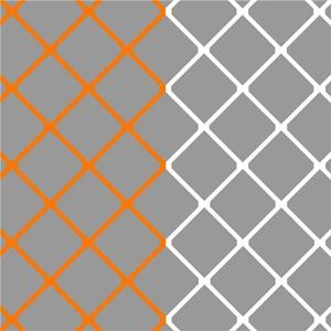 Image de Filets pour but senior couleur Club ORANGE & BLANC