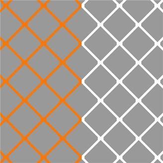 Image sur Filets pour but senior couleur Club ORANGE & BLANC