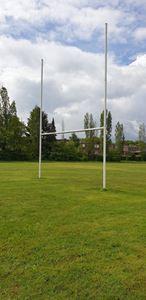 Afbeelding van Poteaux de rugby Hauteur 8,00m en aluminium à sceller Blanc