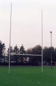 Afbeelding van Poteaux de rugby Hauteur 11,00m en aluminium à sceller Blanc