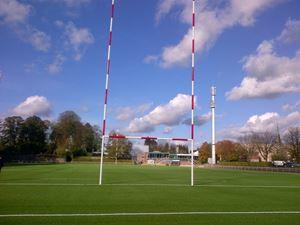Afbeelding van Poteaux de rugby Hauteur 16,00m en aluminium à sceller Blanc