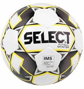 Picture of Select Futsal Master (Grain) Football - Blanc / Gris / Jaune